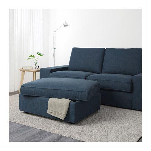 Kivik Ottoman With Storage Hillared Dark Blue Ikea Storage