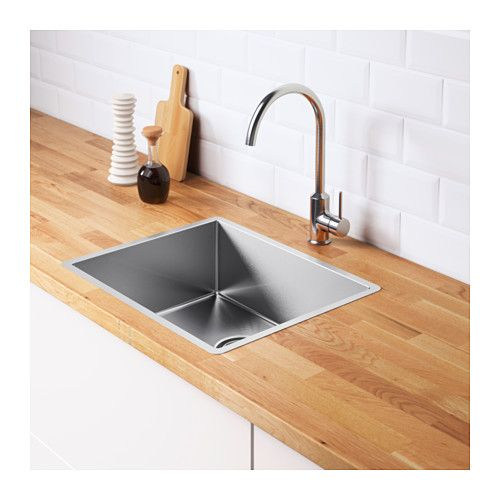 Norrsjon Sink Stainless Steel Bowl Depth 7 1 8 Order Today Ikea Inset Sink Kitchen Furniture Design Ikea Kitchen Sink