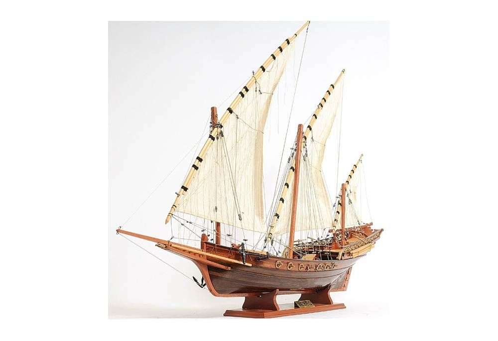 Xebec Model Ship For Decoration Sailing Ships