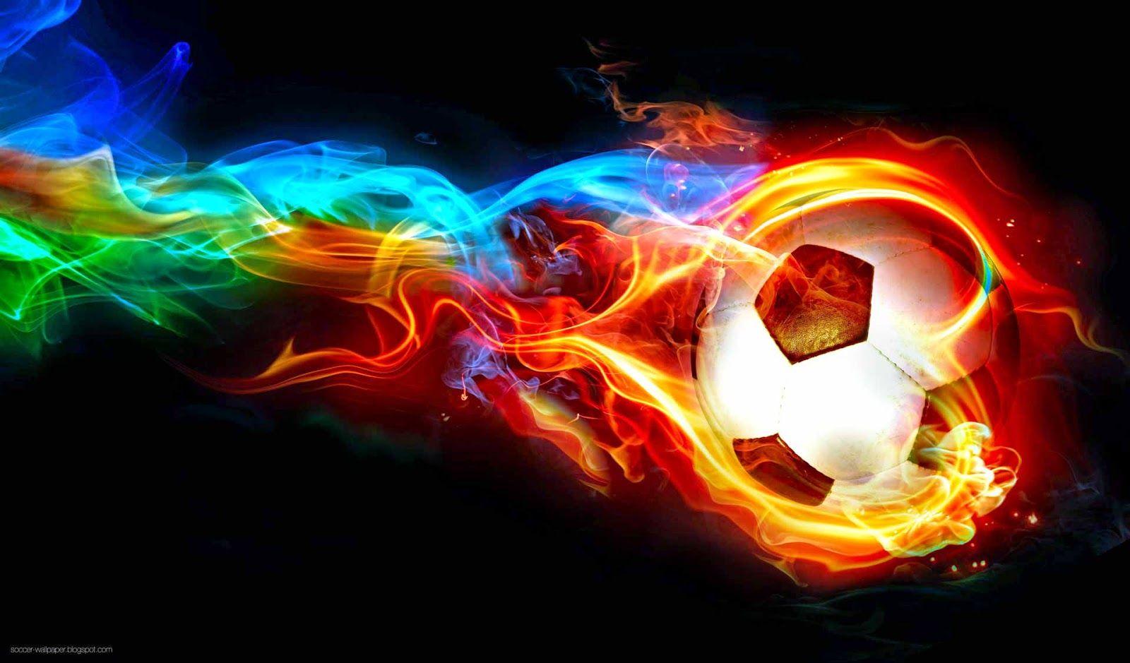 flaming soccer balls   Best Soccer Wallpaper of 2014   Sports ...