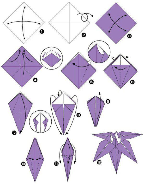 Origami facile fleur pliage carambola truc sante pinterest how to make an origami iris flower mightylinksfo