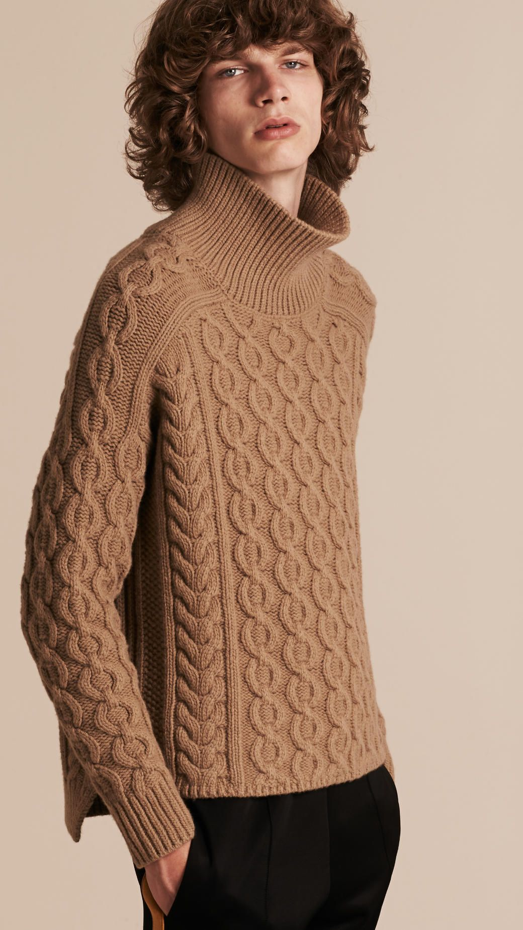 a526a92ddb69 Wool Cashmere Cable Knit Jumper