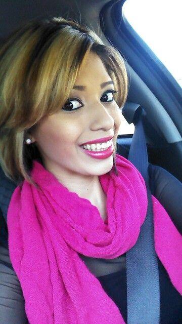 Blonde & brown pink lipstick :)