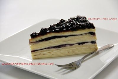 8d3d0daaf4 Blueberry Mille Crepe ♥ SK Homemade Cakes ♥  Mille Crepe