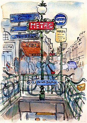 #paris #metro #journaling