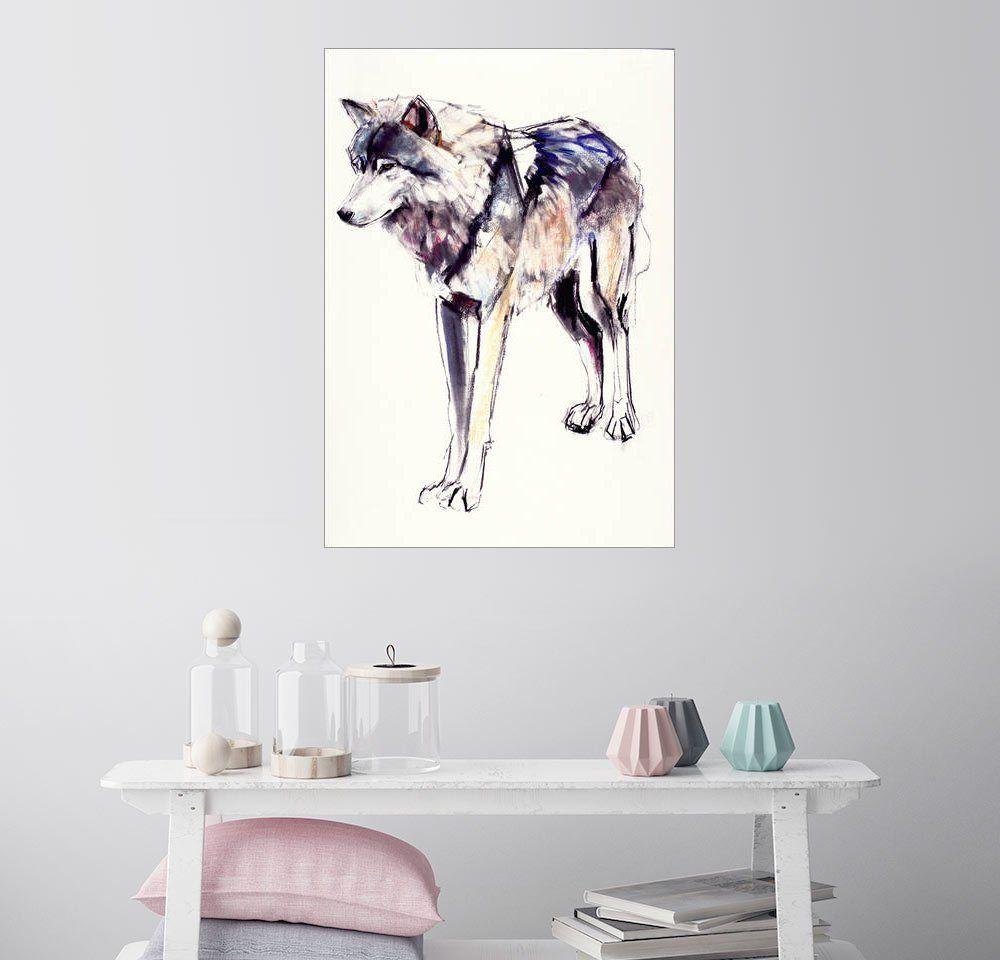 Posterlounge Wandbild - Mark Adlington »Alphawolf« Jetzt bestellen ...