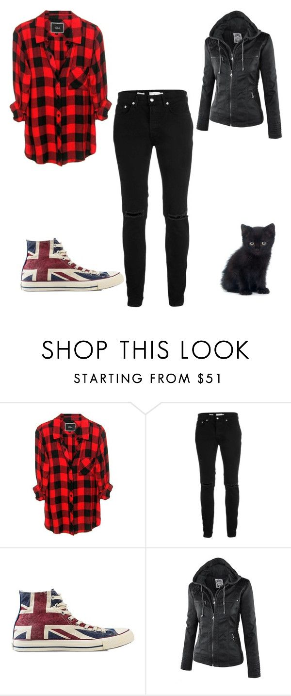 """Scotland finally~ Luna"" by coffeeismysoul ❤ liked on Polyvore featuring Rails, Topman and Converse"