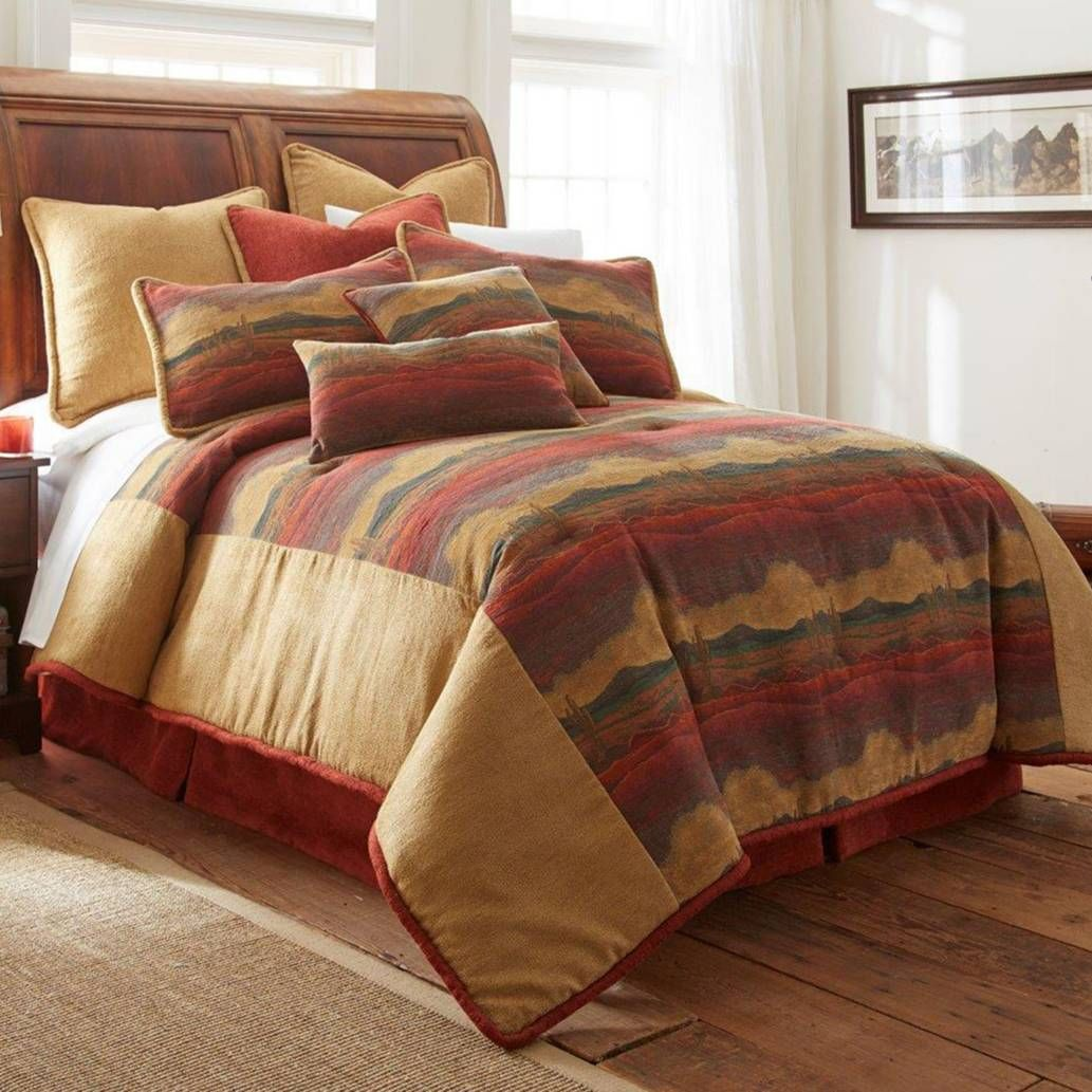 rust desert set comforter king