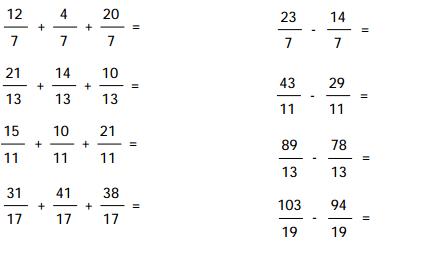 Resultado de imagen para fracciones sumas y restas ejercicios ...