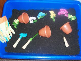 sensory table for the spring time flower sensory table preschool