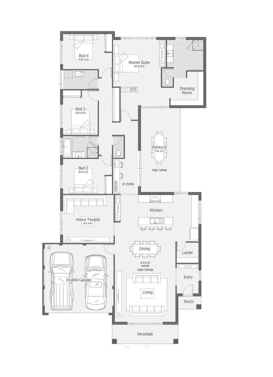 Home Designs Archive Dale Alcock Homes Pty Ltd Bc 7309 Narrow House Plans Display Homes House Design