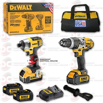 tools Brand New Dewalt 20V Max Lithium Ion Hammer Drill Impact