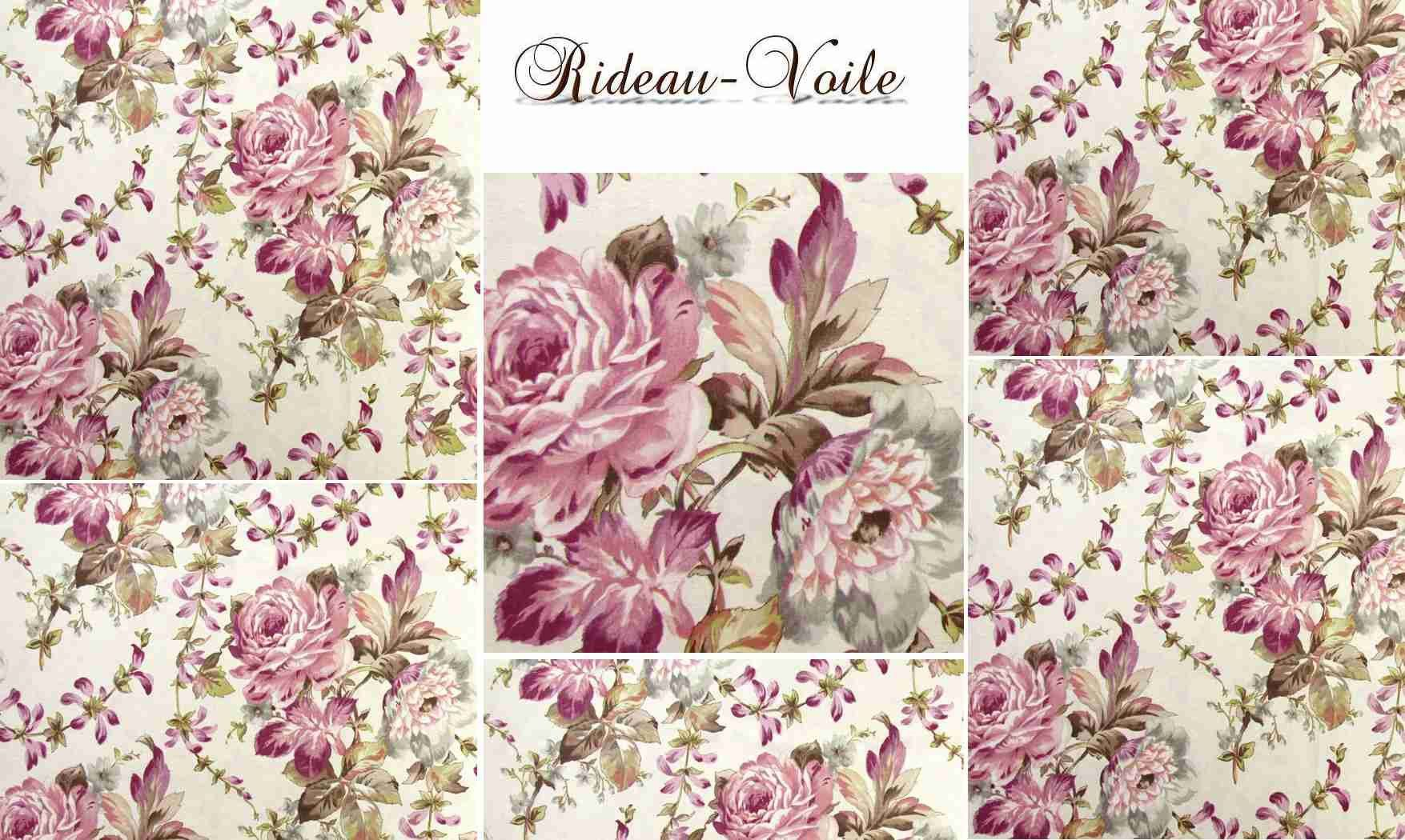 tissu oiseaux fleurs imprim motif d co d coration rideau curtain eyelets drapes vorhang. Black Bedroom Furniture Sets. Home Design Ideas