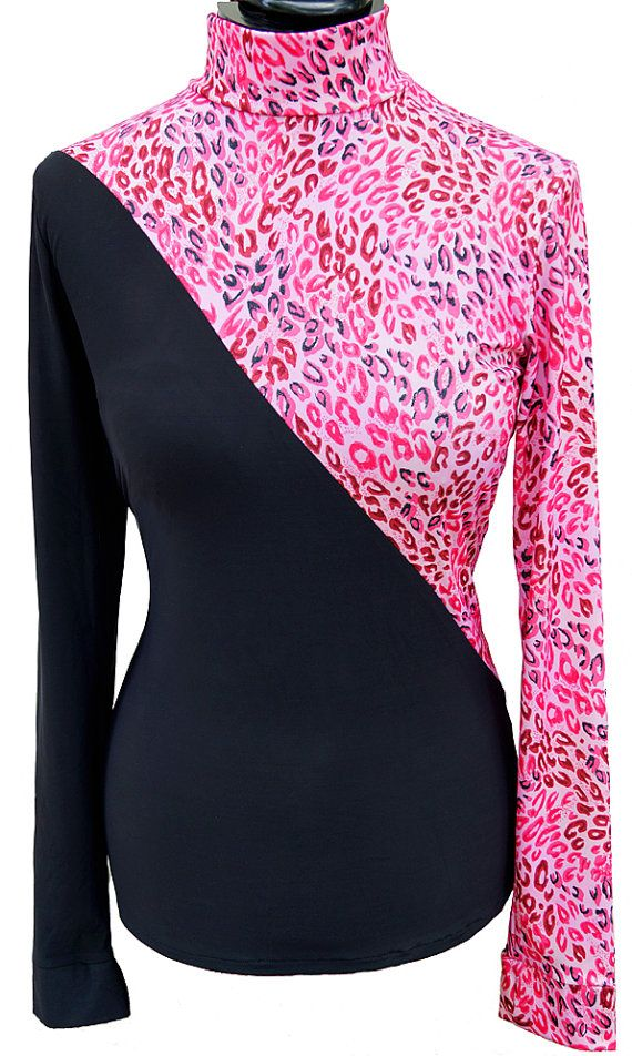 PINK /& BLACK Leopard Western Pleasure Rail Shirt