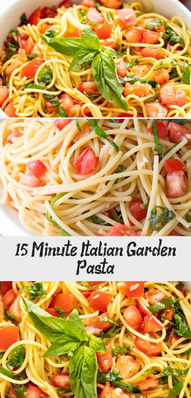 This fresh summer pasta can be eaten hot or cold and comes together in just minutes Its 15 Minute Italian Garden Pasta and its amazingly delicious