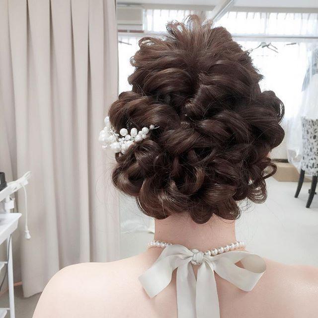 * 今日の新婦様💕 * 可愛かったなぁ😍 * #bridal #wedding #hairandmakeup #ブライダル #ウエディング #ヘアメイク…