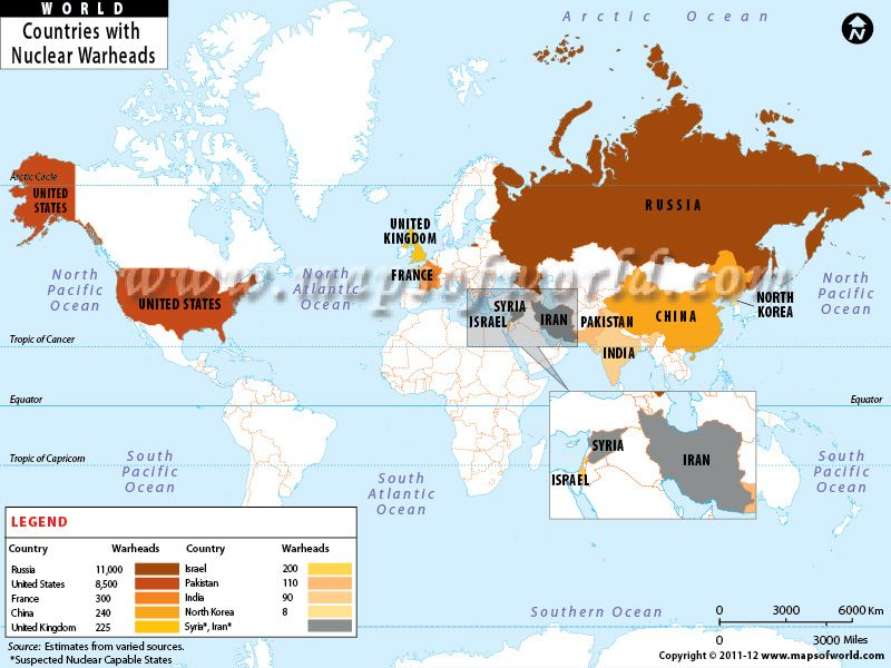 Map of the day top ten countries with largest nuclear weapons map of the day top ten countries with largest nuclear weapons gumiabroncs Image collections
