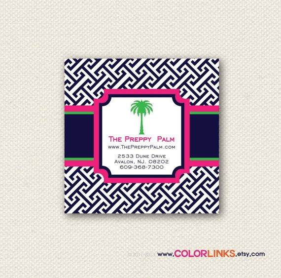 Preppy business cards calling cards hang tags 100 your brand items similar to preppy business cards calling cards hang tags on etsy colourmoves