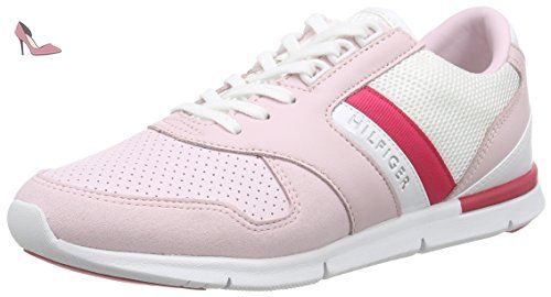 Tommy Hilfiger S1285KYE 1Z, Chaussons femme, Rose Pink