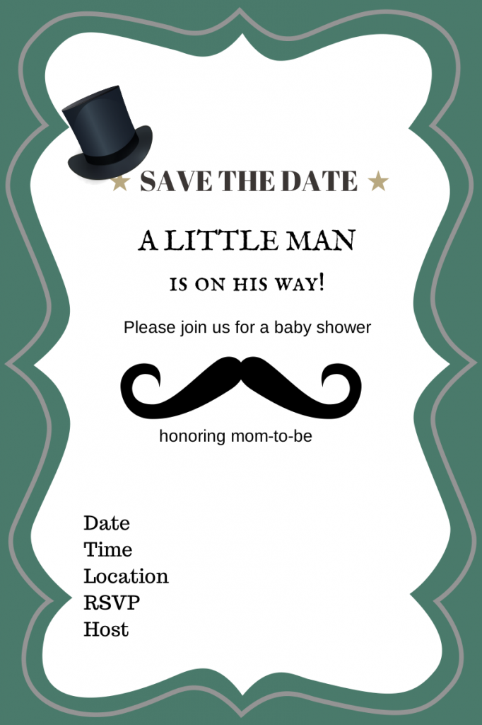 35ccf61c78d9 Free Printable Baby Shower Invitations - Boy - Girl - Nautical ...