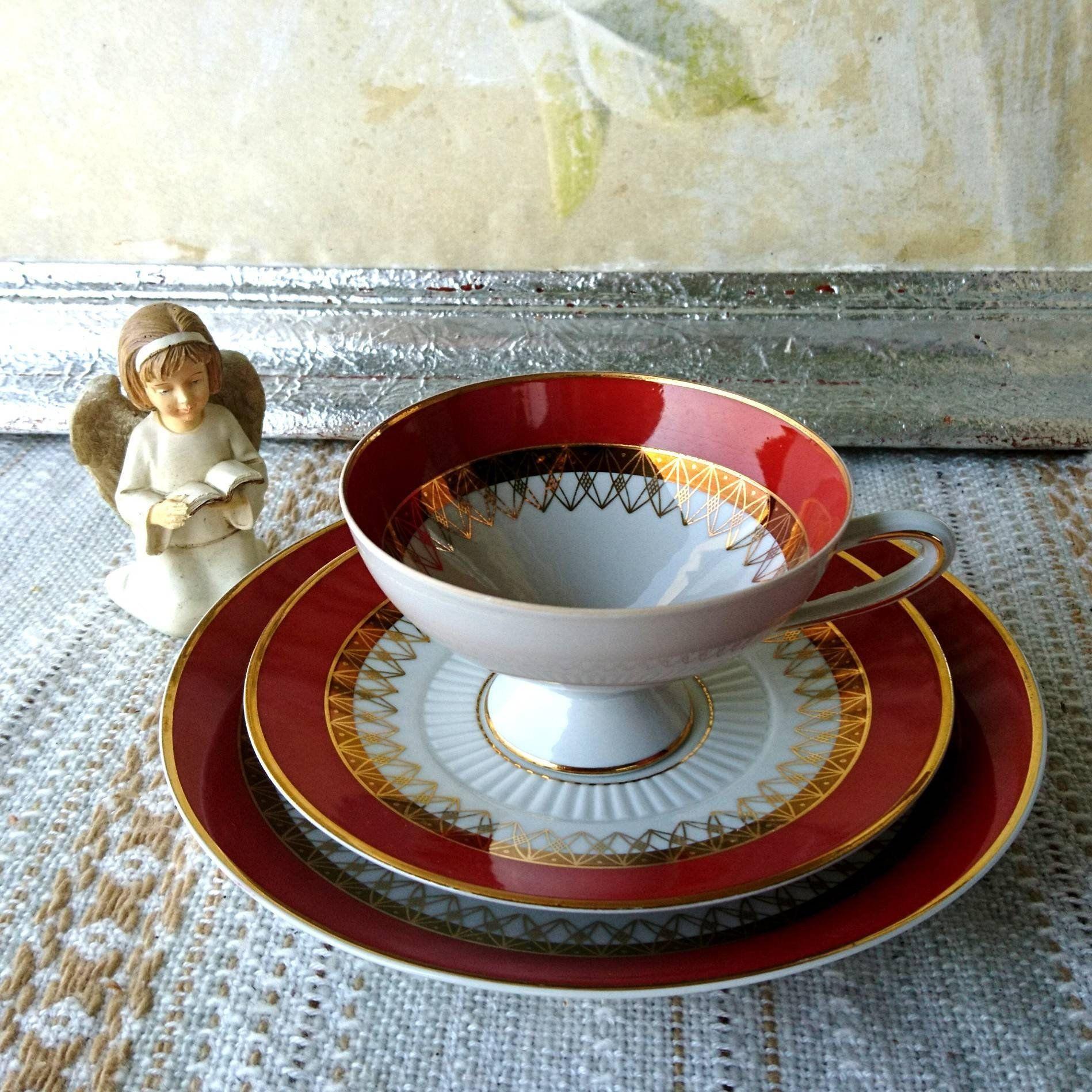 Vintage Sammelgedeck Aus Den 60er 70er Porzellan Ddr Gdr 3teilig Tasse Teller Untertasse Schierholz Sche Porzellanmanufaktur Plau Cup Vintage Collection Saucer