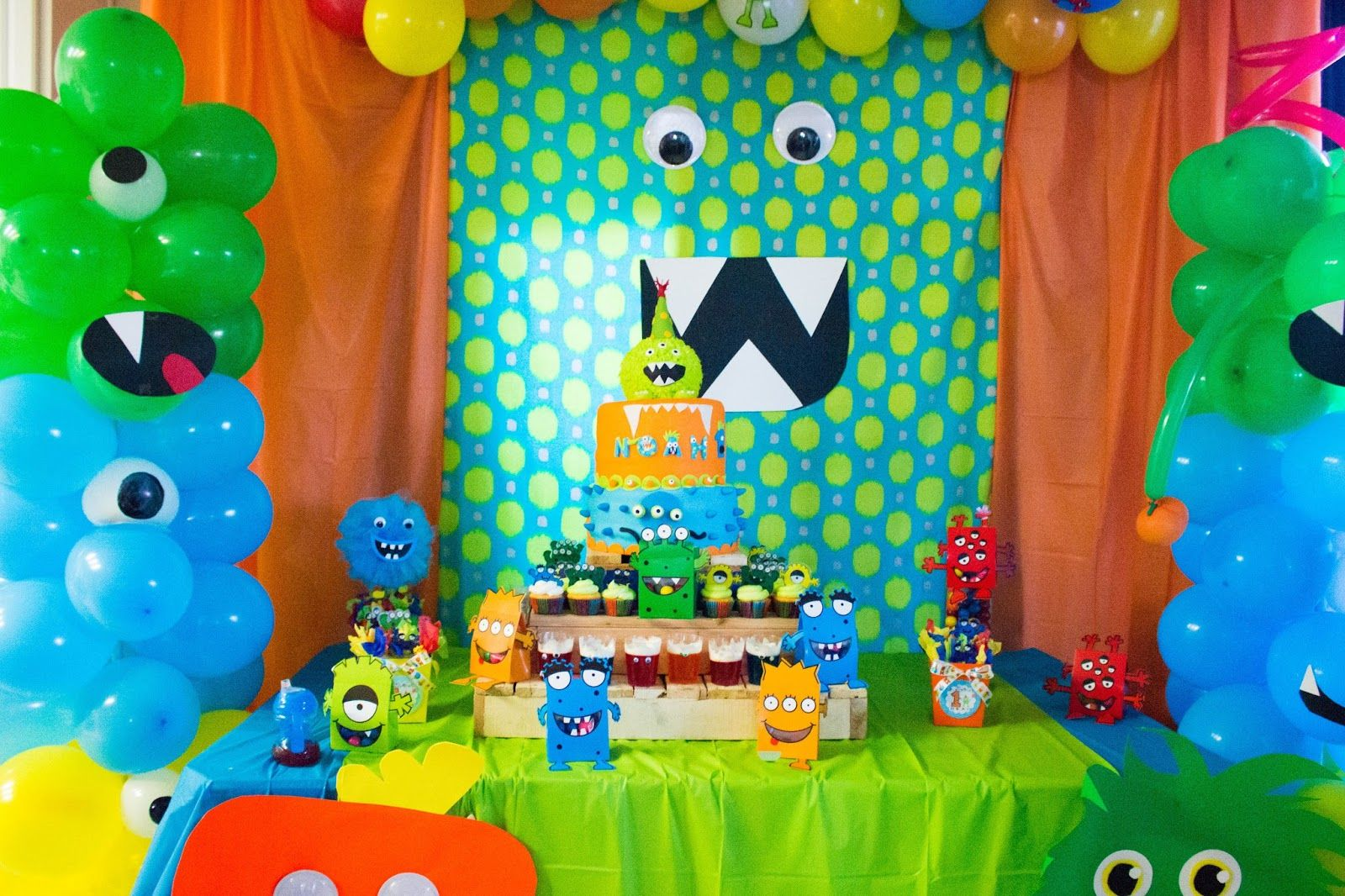 Party ideas monster party ideas little boys party for 1st birthday party decoration ideas boys