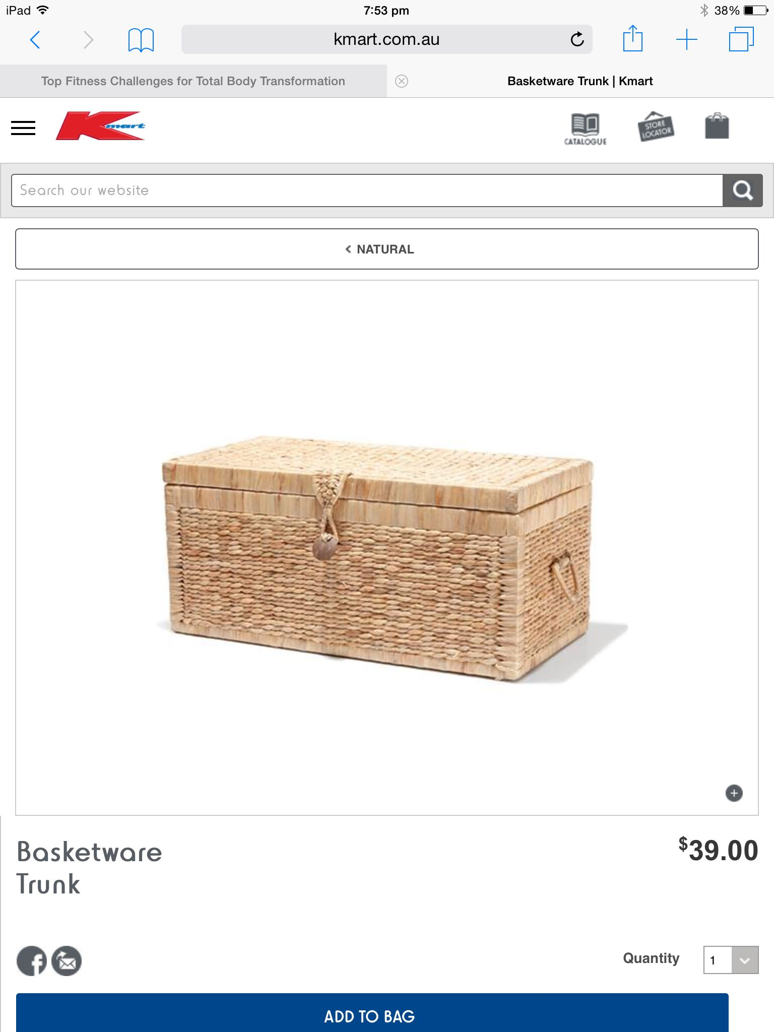 Love This Basket Trunk From Kmart A Great Way To Store Memories And