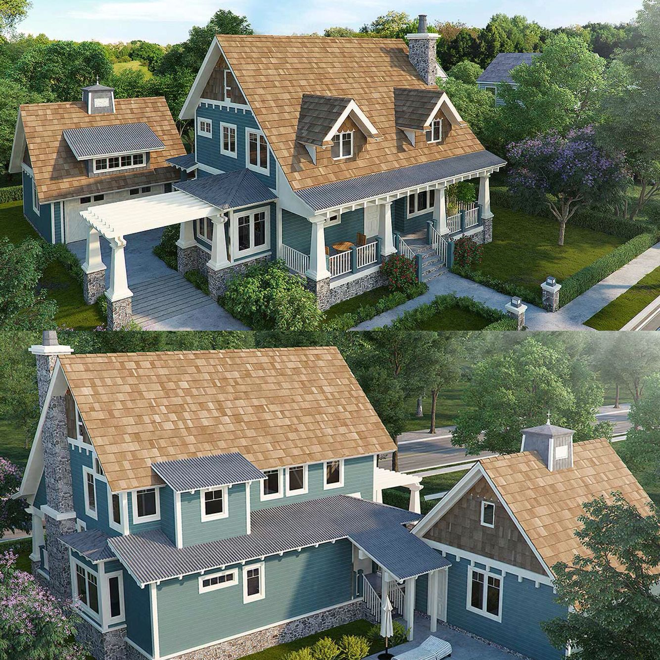 Plan 12944kn country house plan with lots of pluses - Planos de arquitectura ...