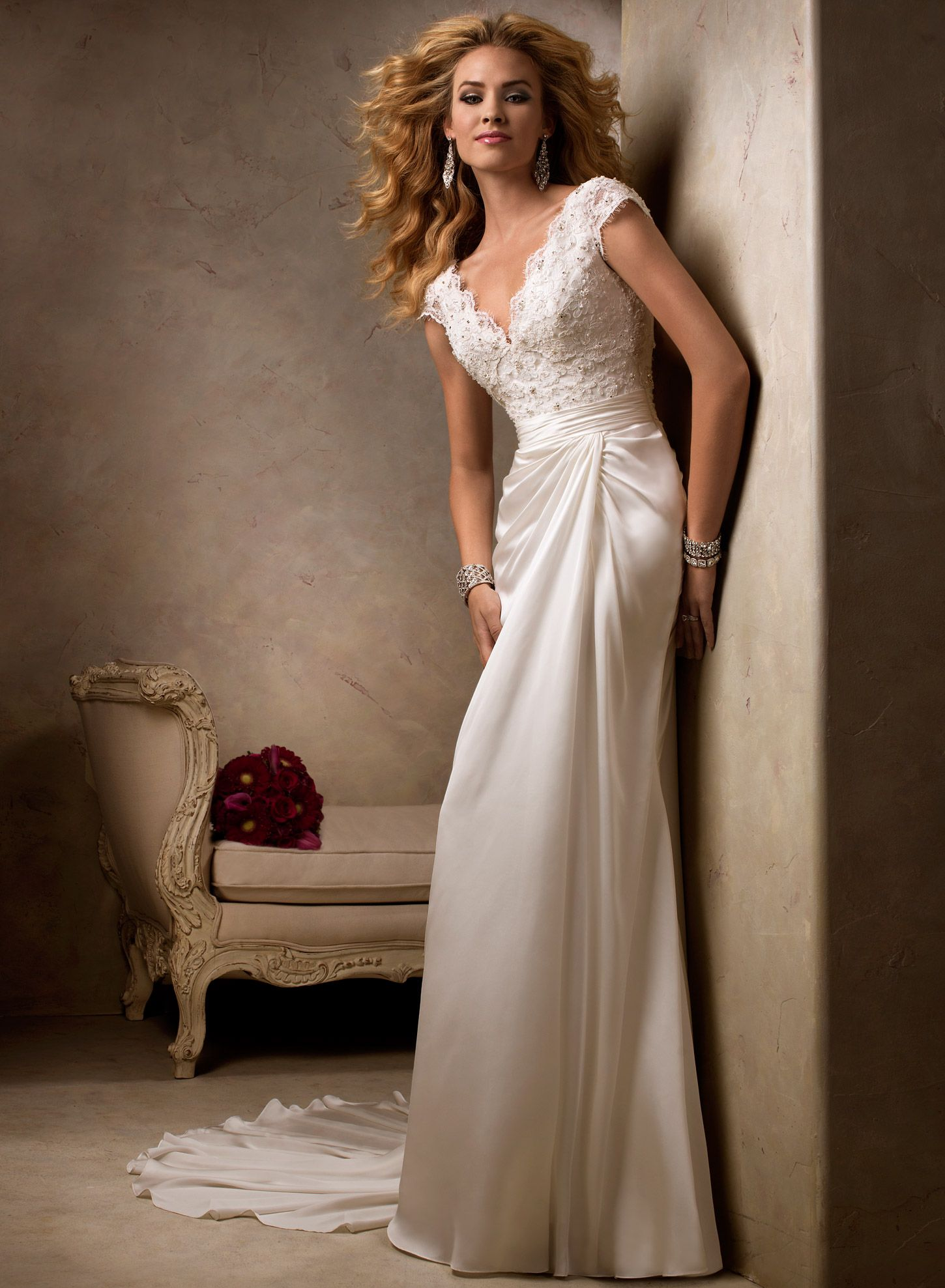 Elegant wedding dresses for mature brides  Fiona  by Maggie Sottero  Here comes the bride all dressed in