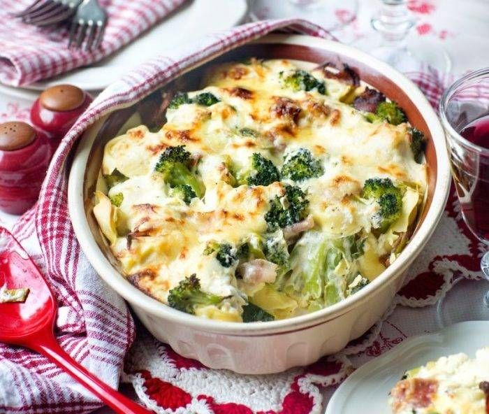 Kramig Pasta Och Bacongratang Tortellini Mat Recept