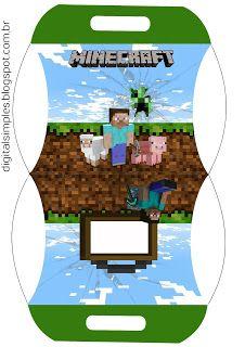 Festa Aniversario Digital Minecraft Para Imprimir Aniversario