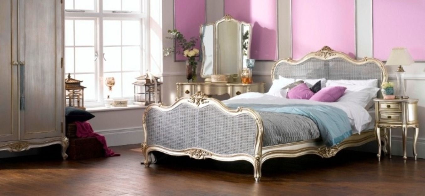 Best Bedroom French Baroque Modern Twin Beds With Solid Wood 640 x 480