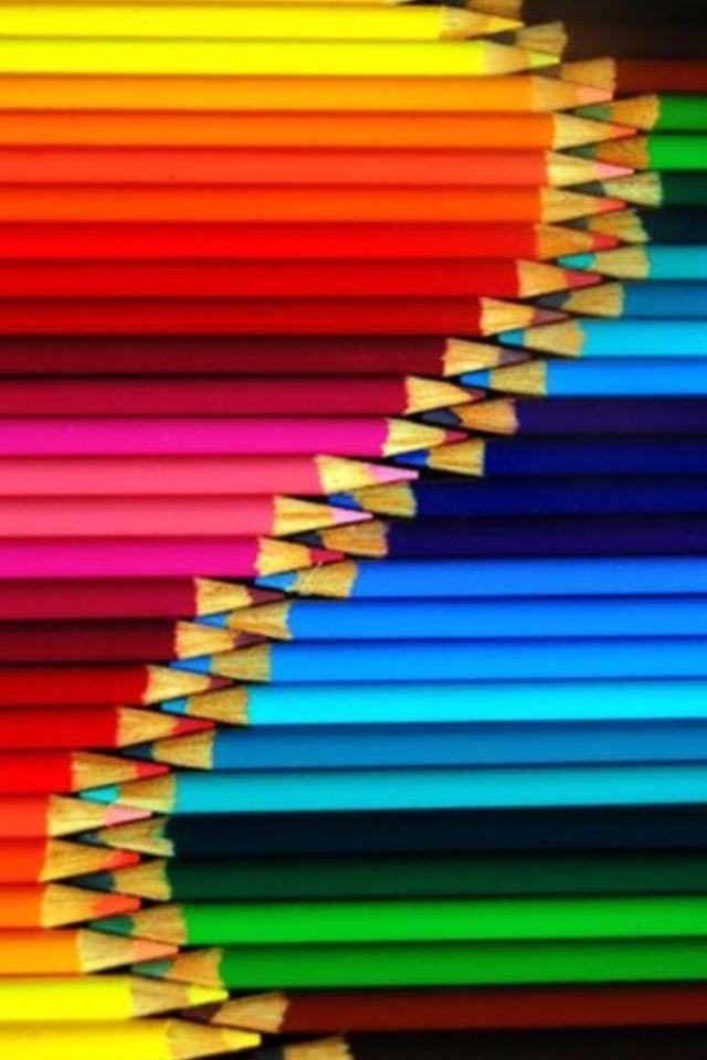 Iphone wallpaper rainbow tjn iphone walls 1 coloured pencils rainbow colors vivid colors - World of color wallpaper ...
