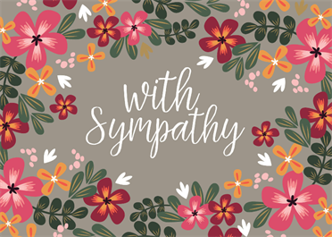 With Sympathy Sympathy Condolences Card Free Greetings Island Condolence Messages Sympathy Cards Condolence Card Sympathy