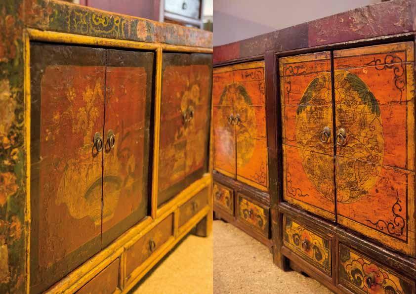 Chinesische Möbel, Möbel aus der Mongolei, asiatische Möbel, antike ...