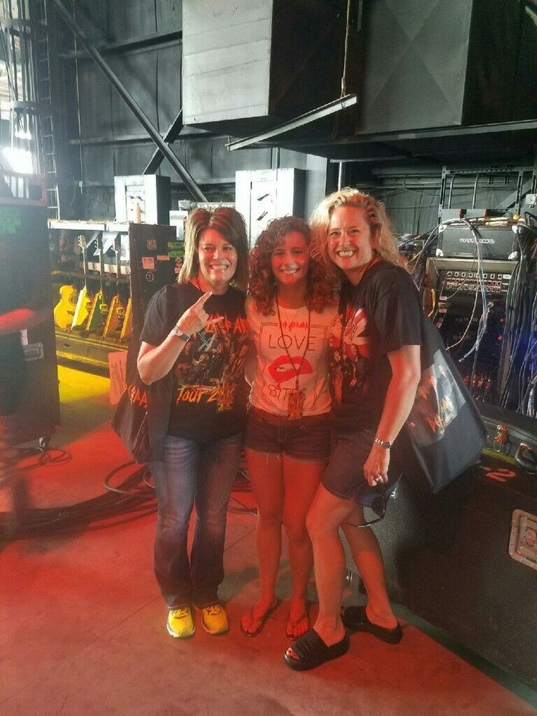 Me My Daughter And My Def Leppard Best Friend Backstage At St