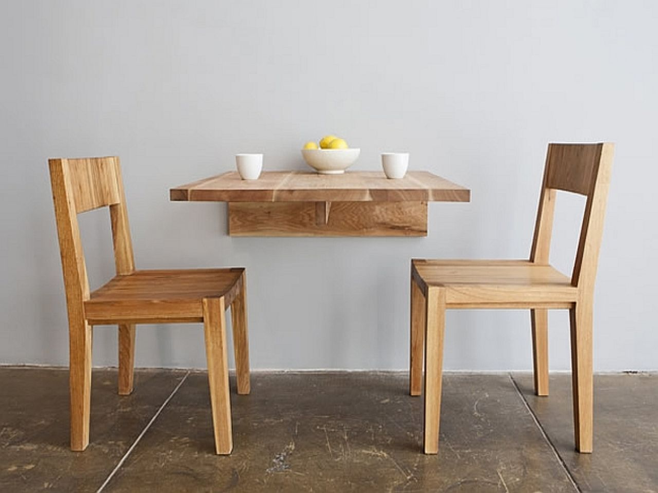 Wall Fold Away Dining Tables for Small Spaces