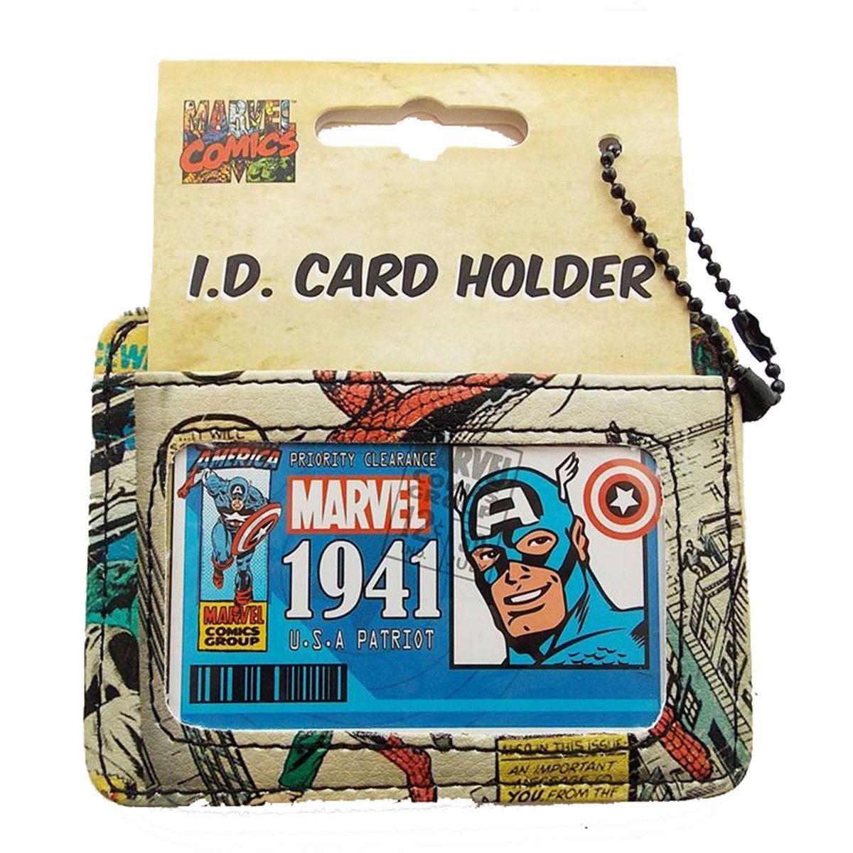 Marvel retro id card holder marvel retro comic book