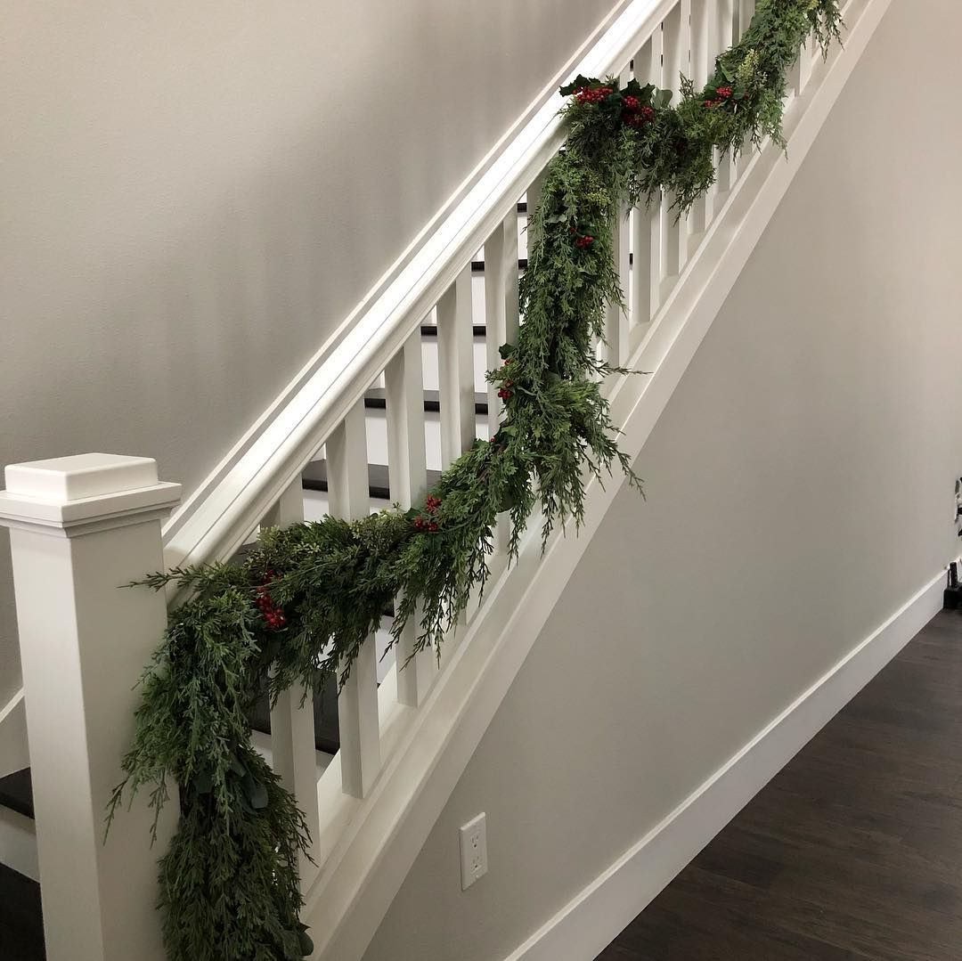 Image may contain plant and indoor stair railing