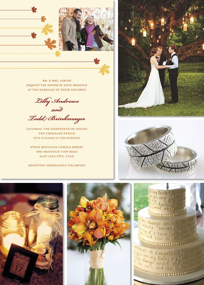 Attractive Autumn Themed Wedding Decorations Crest - The Wedding ...