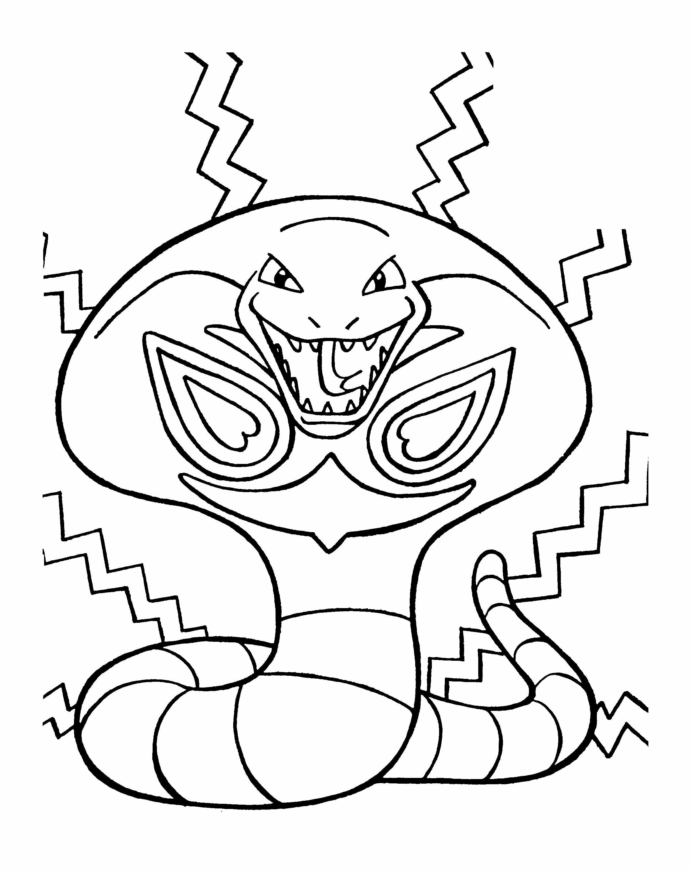 pokemon the evil snake coloring page coloring pages pinterest