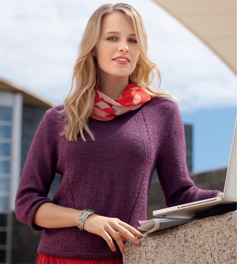 цельновязаный свитер спицами женский схемы