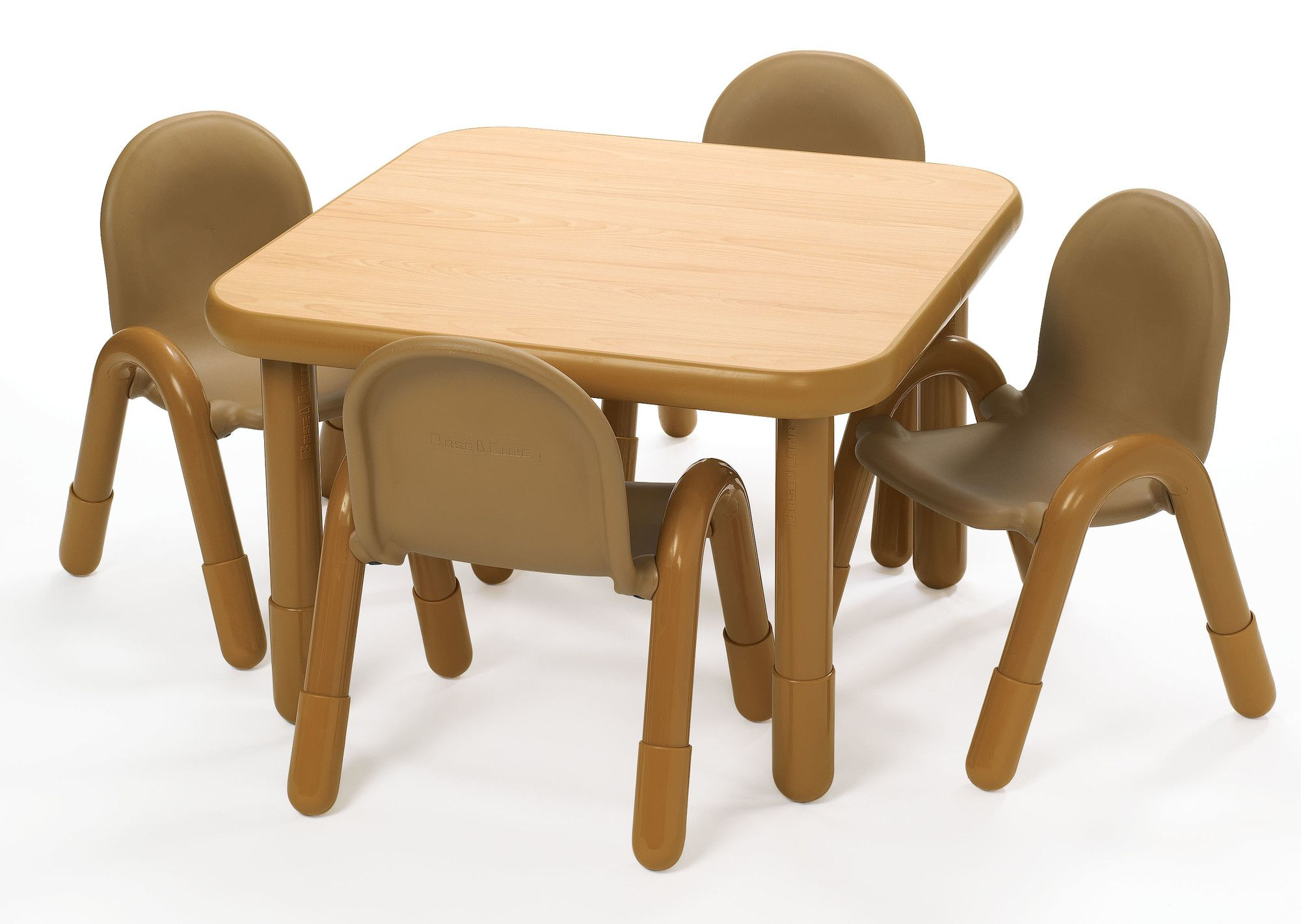 b0f8d37443ce Square Baseline Preschool Table and Chair Set in Natural