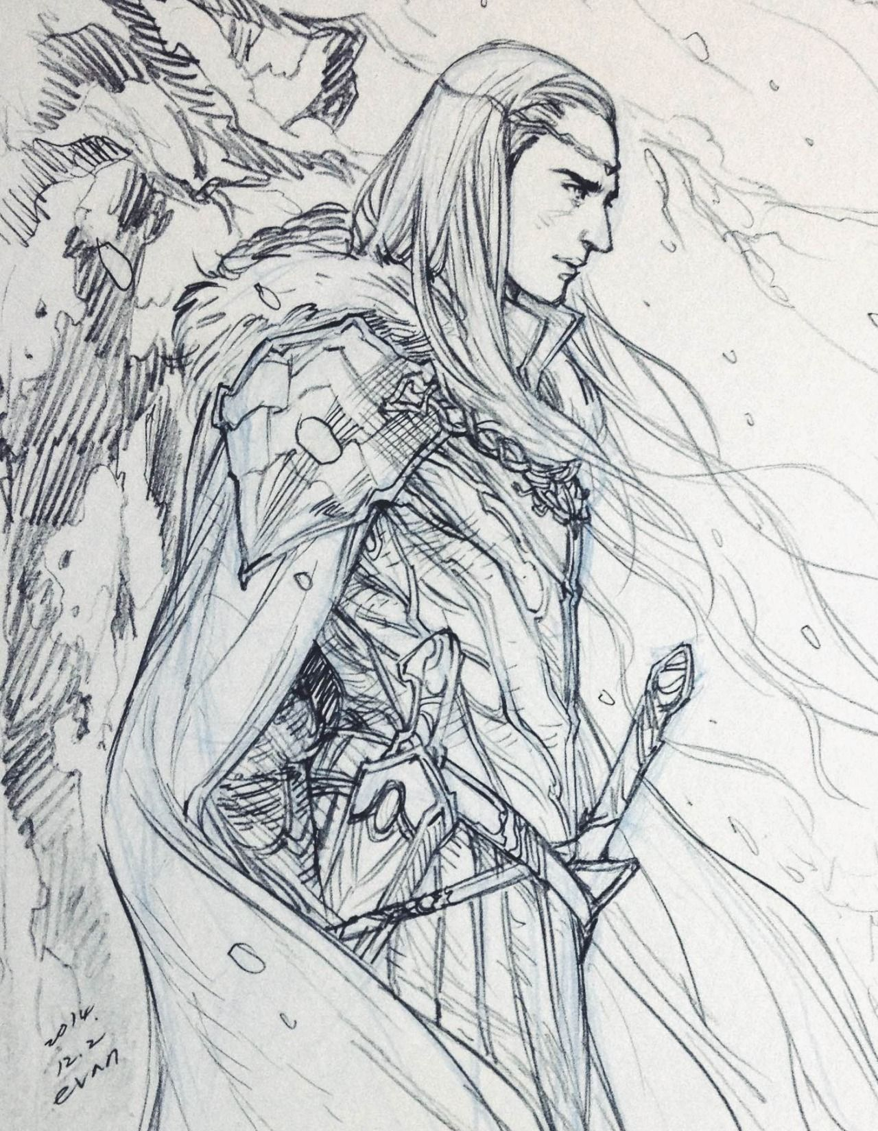 thranduil from the hobbit art by thranduil and his family pinterest