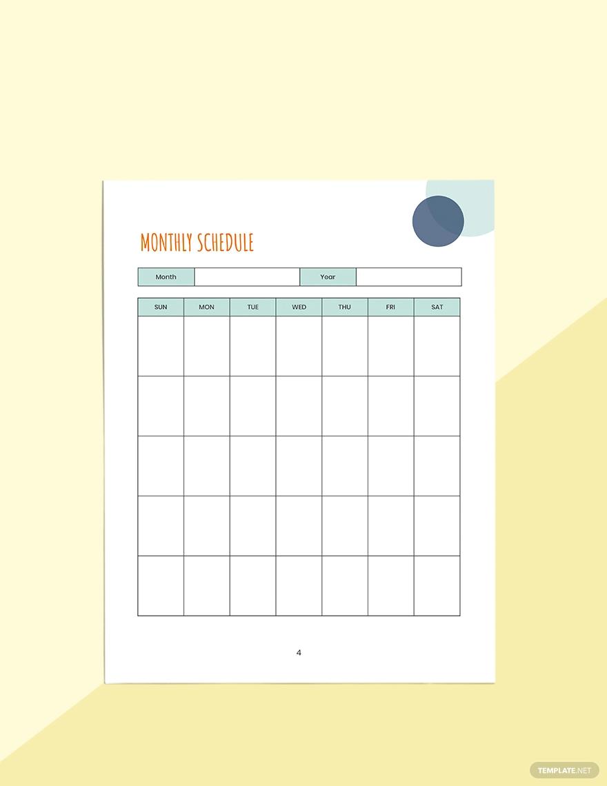 Monthly Preschool Planner Template in 2020 Preschool