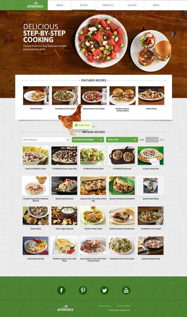 Athenos by Jen Lu, via Behance #recipies #food #feta #webdesign #cheese