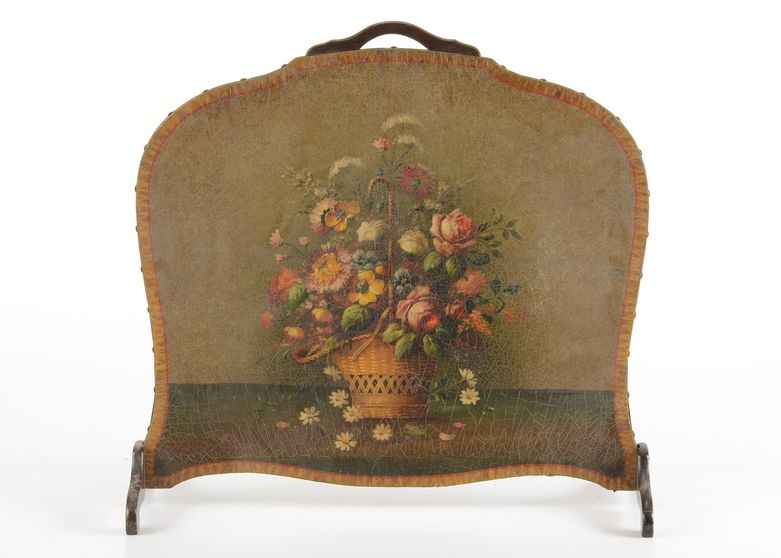Antique hand painted wooden fireplace screen fireplace screens and antique hand painted wooden fireplace screen teraionfo