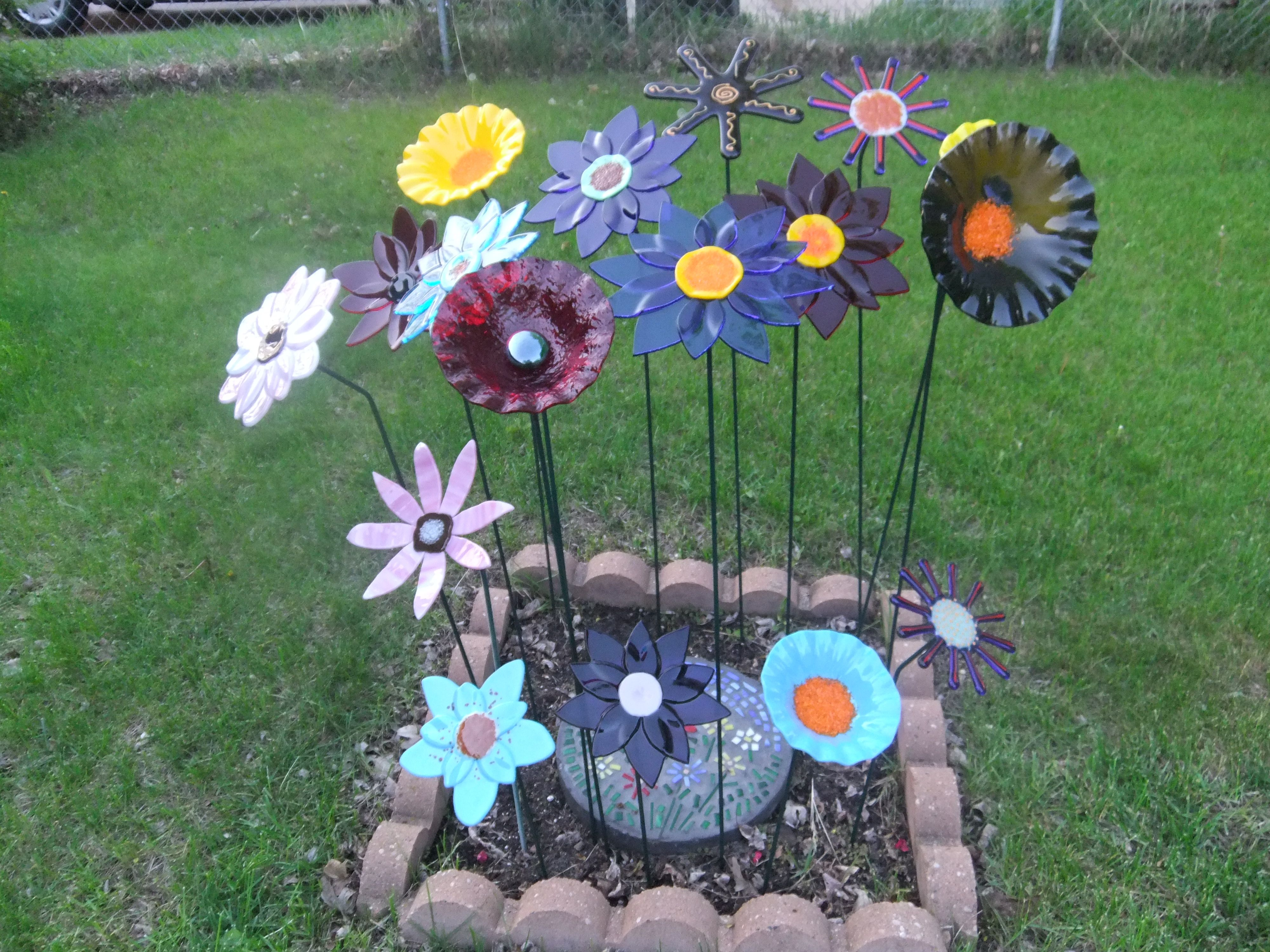 Fused glass garden!
