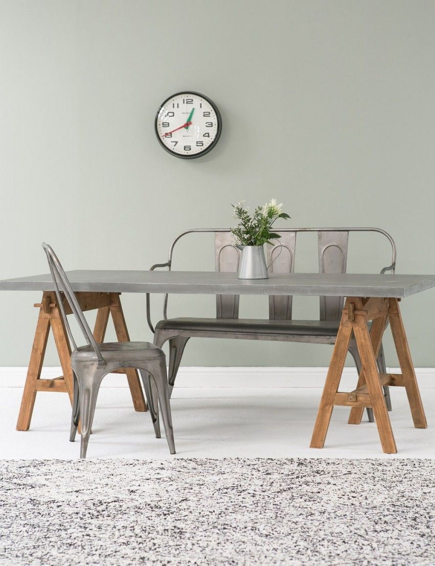 Double Trestle Dining Table At Rose And Grey Interiors Pinte - Double trestle dining table