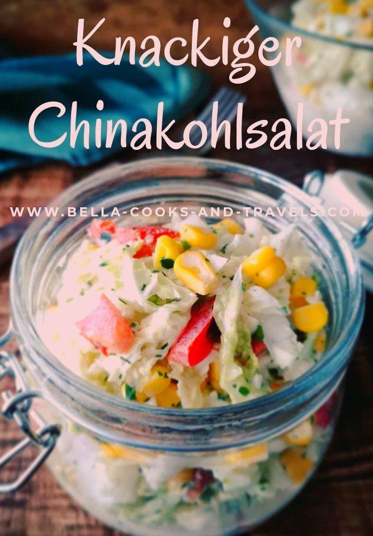 Jener Kuddelmuddel hat Biss, schmeckt superlecker u. a. ist in Form! #chinakohl #salat #rezept #fitf...